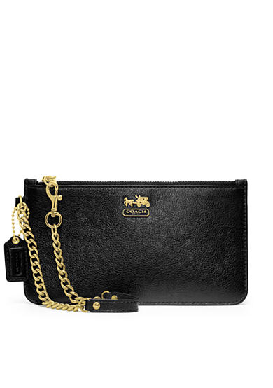 COACH MADISON LEATHER CHAIN WRISTLET