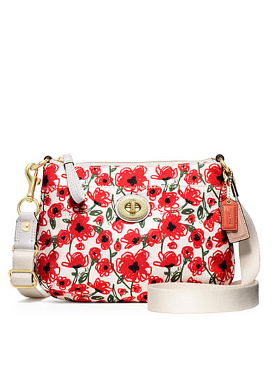 COACH POPPY FLORAL PRINT SWINGPACK