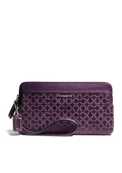 COACH MADISON DOUBLE ZIP WALLET
