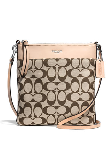 COACH LEGACY PRINTED SIGNATURE FABRIC NORTH/SOUTH SWINGPACK