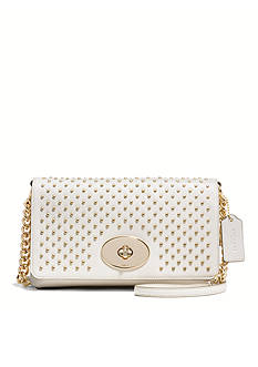 COACH STUDDED LEATHER CROSSTOWN CROSSBODY