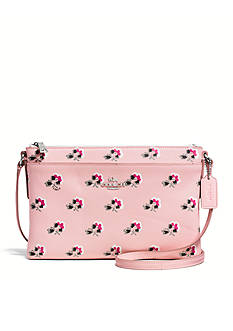 COACH FLORAL PRINT CROSSGRAIN LEATHER JOURNAL CROSSBODY