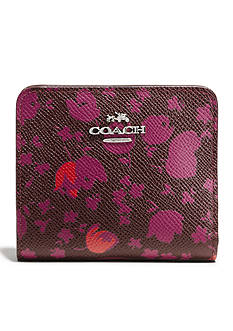 COACH FLORAL PRINT LEATHER SMALL WALLET