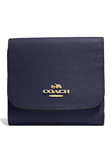 COACH CROSSGRAIN LEATHER SMALL WALLET