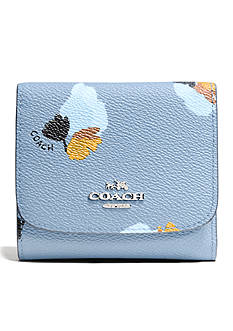 COACH FLORAL PRINT COATED CANVAS SMALL WALLET