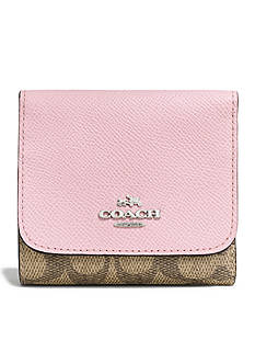COACH Colorblock Signature Coated Canvas Small Wallet