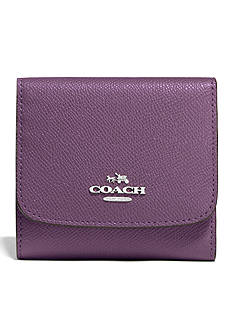 COACH COLORBLOCK LEATHER SMALL WALLET