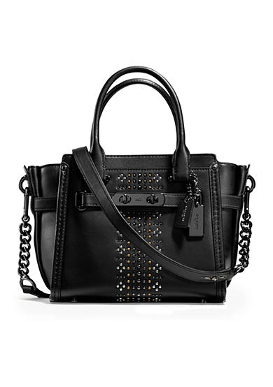 COACH Bandana Rivets Swagger 21 Bag in Glovetanned Leather