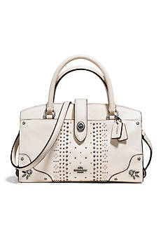 COACH Bandana Studs Mercer Satchel 24-in. Grain Leather