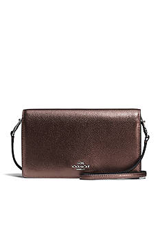 COACH Foldover Crossbody in Pebble Leather
