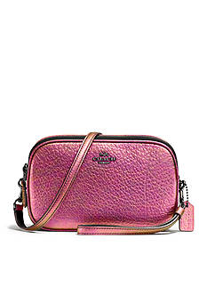 COACH CROSSBODY CLUTCH IN HOLOGRAM LEATHER
