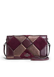 COACH Canyon Quilt Foldover Crossbody in Mixed Materials
