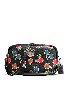 COACH Crossbody Clutch in Daisy Printed Pebble Leather