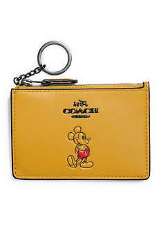 COACH Boxed Mickey Mini ID Skinny In Calf Leather