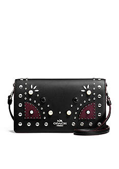 COACH Western Rivets Fold Over Crossbody Clutch