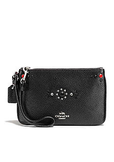 COACH Western Rivets Small Wristlet