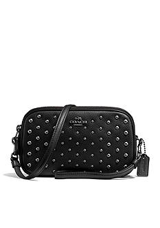 COACH Crossbody Clutch In Polished Pebble Leather With Ombre Rivets