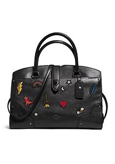 COACH Mercer Satchel 30 With Souvenir Embroidery