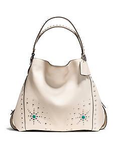 COACH Western Rivets Edie Shoulder Bag