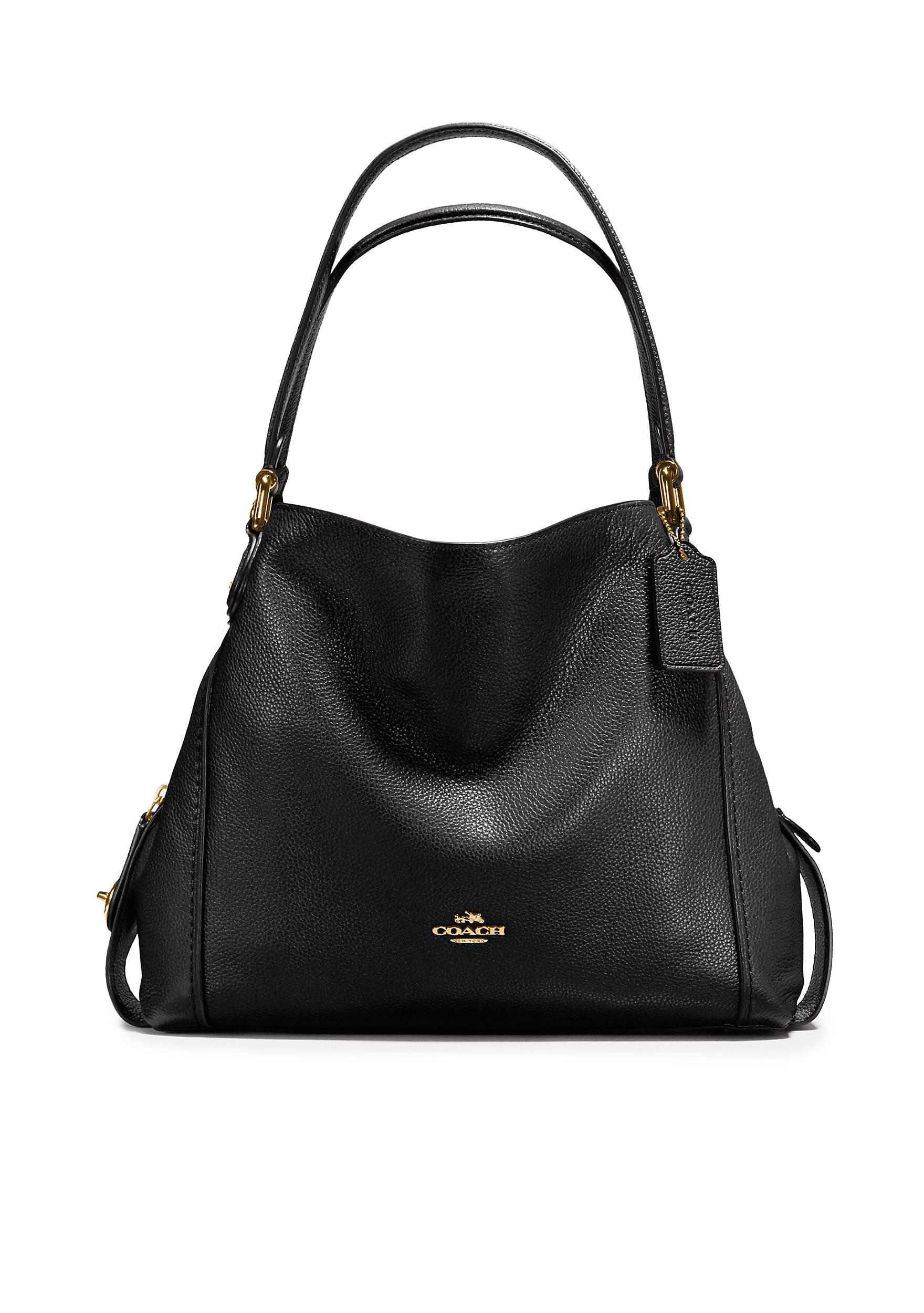 COACH Edie Shoulder Bag 31 In Polished Pebble Leather | belk