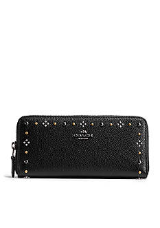 COACH Boxed Daisy Rivets Slim Accordion Wallet
