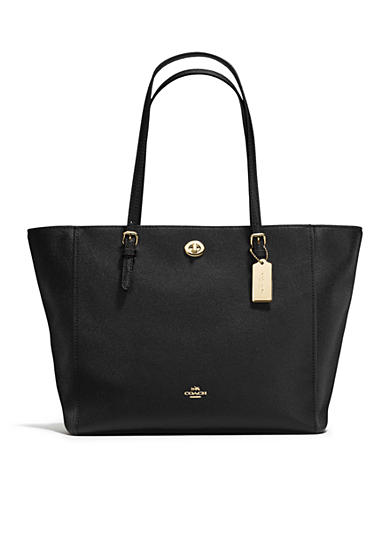 COACH Turnlock Tote in Crossgrain Leather