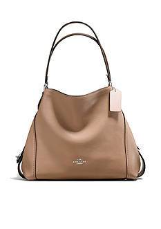 COACH Colorblock Edie Shoulder Bag 31-in. Mixed Materials Bag