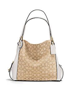 COACH Edie Shoulder Bag 31-in. Signature Jacquard Bag