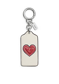 COACH Boxed Heart Hangtag Bag Charm
