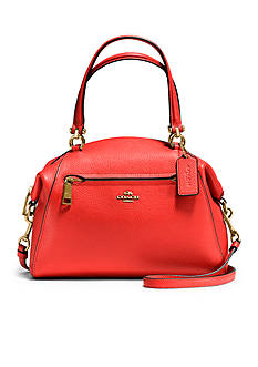 COACH Prairie Satchel in Polished Pebbled Leather