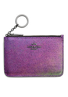 COACH HOLOGRAM LEATHER KEY POUCH