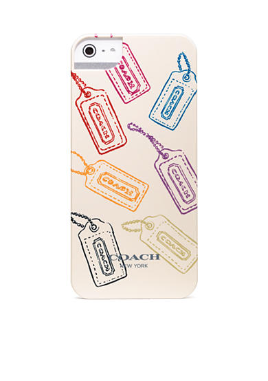 COACH HANGTAG MULTI MIX IPHONE 5 CASE<br>
