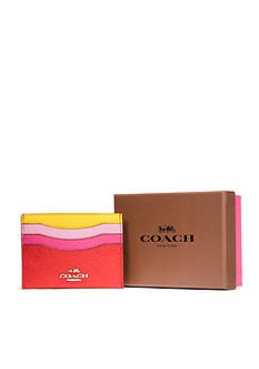 COACH COACH BOXED SET FLAT CARD IN COLORBLOCK LEATHER
