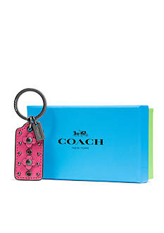 COACH COACH BOXED FLORAL HANGTAG KEY RING