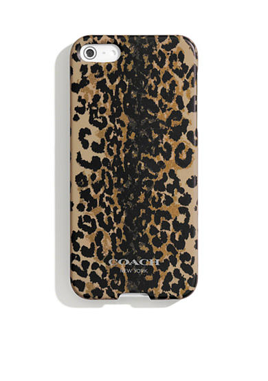 COACH IPHONE 5 CASE IN MADISON OCELOT PRINT