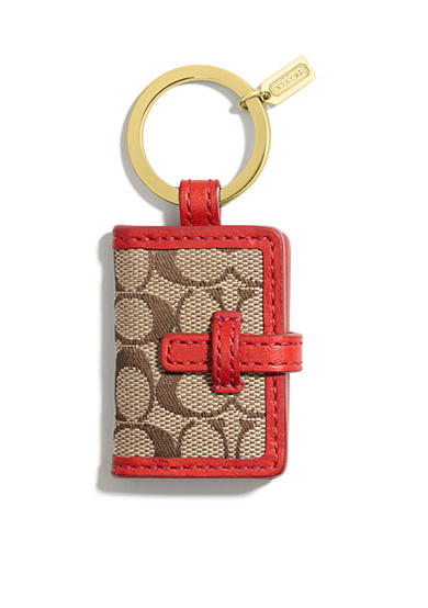 COACH SIGNATURE PICTURE FRAME KEY RING