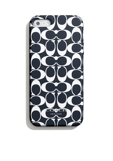 COACH SILICONE IPHONE 5 CASE<br>