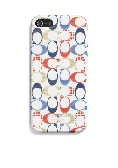 COACH MULTI DOT PRINT MOLDED PLASTIC IPHONE 5 CASE