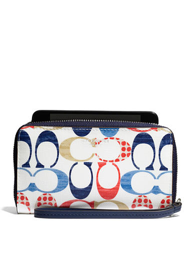 COACH MULTI C PRINT COATED CANVAS BLEECKER EAST/WEST UNIVERSAL CASE