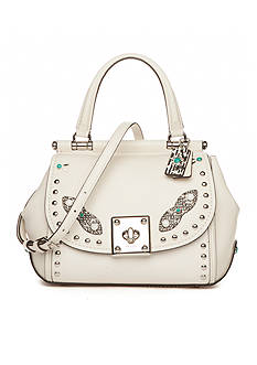 COACH Drifter Top Handle With Western Rivets And Snake Trim Bag