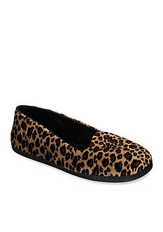 Dearfoams Microfiber Velour Closed Back Slipper