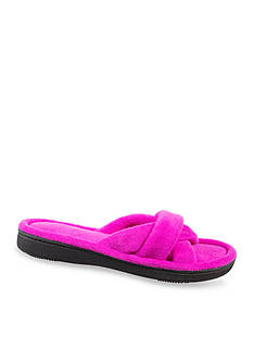 Isotoner Microterry Nina Criss Cross Slippers
