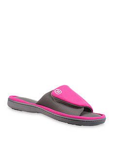 Isotoner Matte Satin Adjustable Slide Slippers