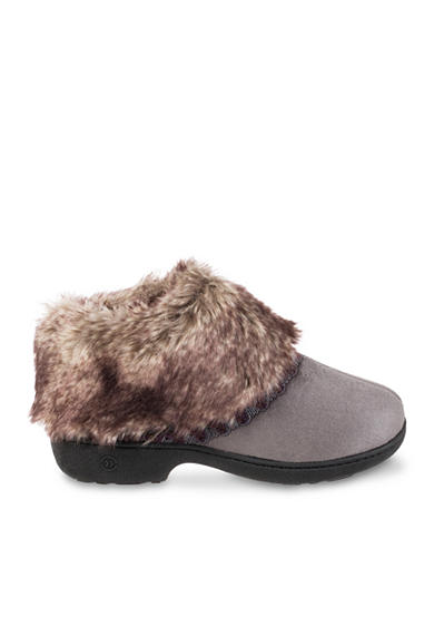 Isotoner&reg Slippers Microsuede Nikita Low Boot Slippers