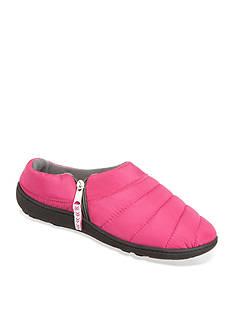 Isotoner&reg Slippers Womens Nylon Quilted Christi Hoodback Slippers