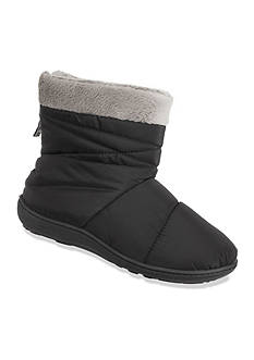 Isotoner&reg Slippers Nylon Quilted Boot Slippers