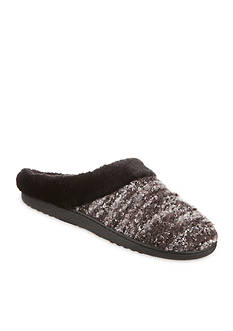 Totes Boxed Boucle Knit Clog Slippers