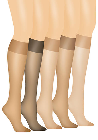 Hanes® Silk Reflections Queen Size Sheer Knee High Enhanced Toe