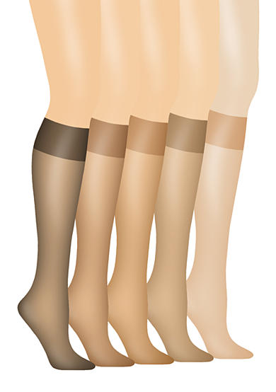 Hanes® Silk Reflections Silky Sheer Knee High 2 Pack