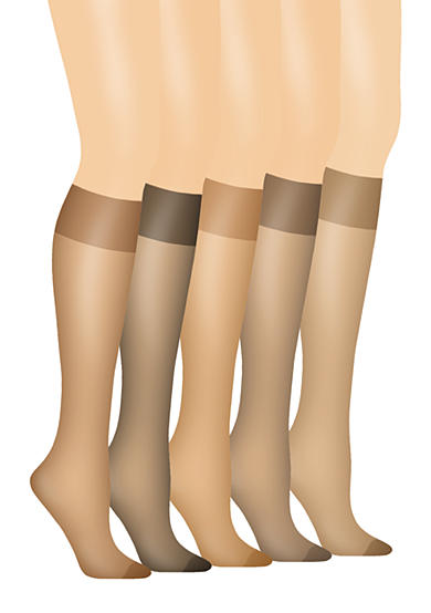 Hanes® Silk Reflections Knee Highs With Reinforced Toe